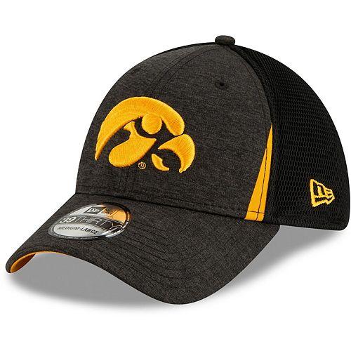 Men's New Era Black Iowa Hawkeyes Slice Neo 39THIRTY Flex Hat