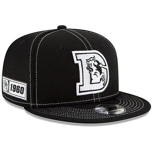 Men's New Era Black Denver Broncos 2019 NFL Sideline Road 9FIFTY Snapback Adjustable Hat