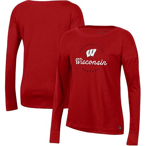 Women's Under Armour Red Wisconsin Badgers Logo Performance Long Sleeve T-Shirt