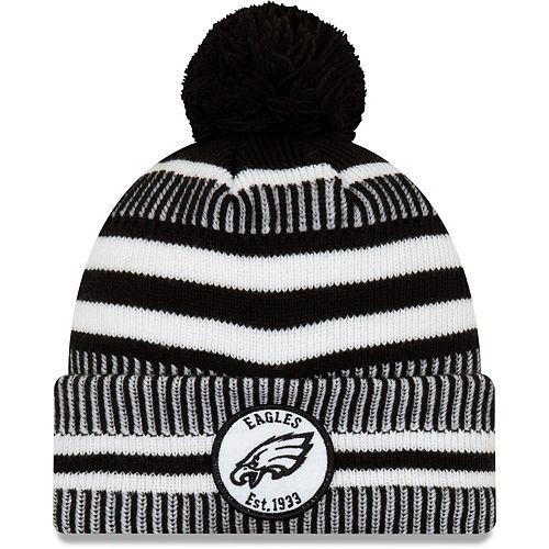 Men's New Era Black Philadelphia Eagles 2019 NFL Sideline Home Sport Knit Hat