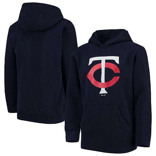 Minnesota Twins Youth Primary Logo Pullover Hoodie - Navy