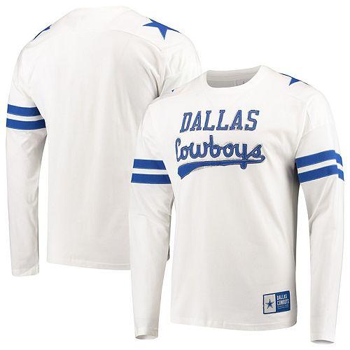 Men's White Dallas Cowboys Kalvin Long Sleeve T-Shirt