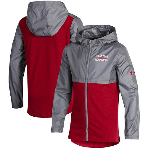 Youth Under Armour Red Texas Tech Red Raiders Woven Layer Full-Zip Jacket