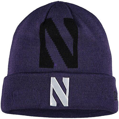Youth New Era Purple Northwestern Wildcats Logo Whiz Cuffed Knit Hat