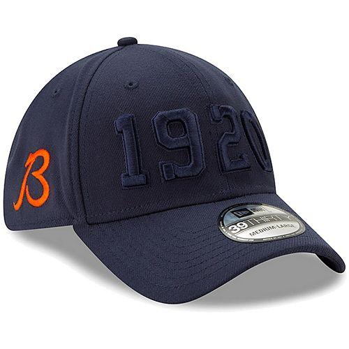 Men's New Era Navy Chicago Bears 2019 NFL Sideline Color Rush Official B Alternate 39THIRTY Flex Hat