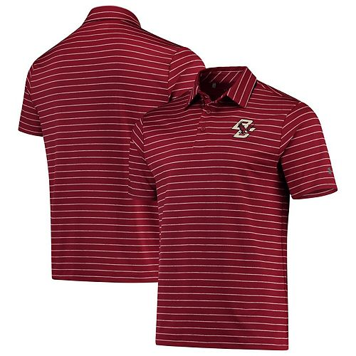 Boston College Eagles Under Armour Playoff Stripe Performance Polo - Maroon