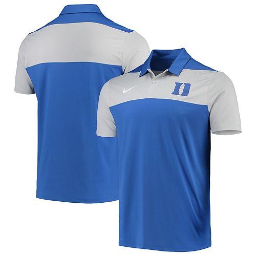 Men's Nike Royal Duke Blue Devils School Logo Color Block Performance Polo