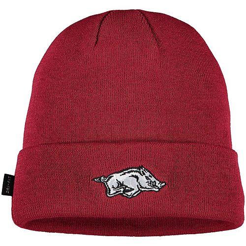 Youth Nike Cardinal Arkansas Razorbacks Sideline Logo Cuffed Knit Hat