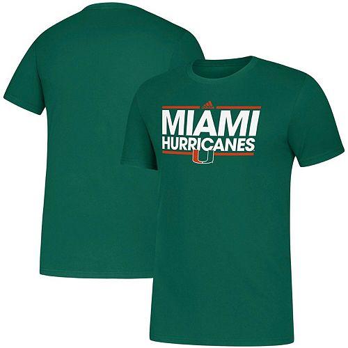 Men's adidas Green Miami Hurricanes Dassler Amplifier climalite T-Shirt