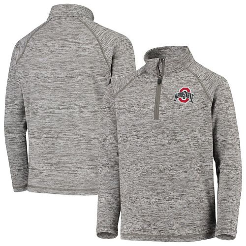 Youth Garb Gray Ohio State Buckeyes Matthew Quarter-Zip Pullover Sweatshirt