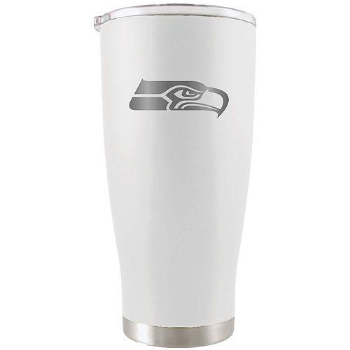 Seattle Seahawks 20oz. Etched Team Logo Tumbler - White