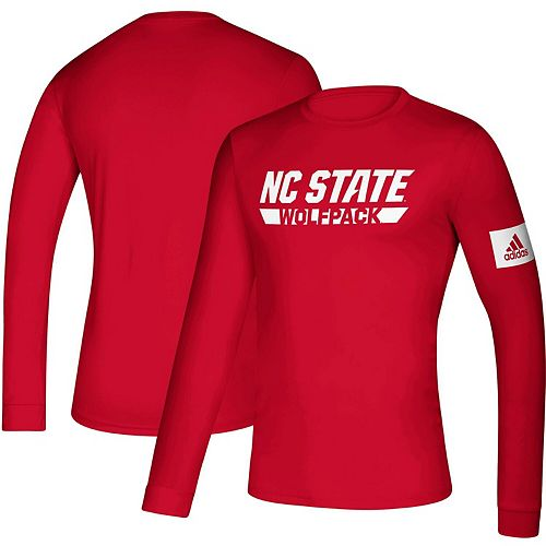 Men's adidas Red NC State Wolfpack 2019 Sideline Practice Creator climalite Long Sleeve T-Shirt