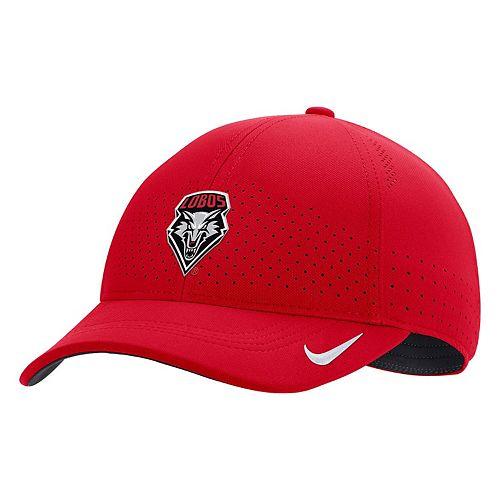 Men's Nike Cherry New Mexico Lobos Sideline Coaches Classic 99 Flex Hat