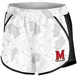 Maryland Terrapins Under Armour Women's Fly By Run Performance Shorts - White/Black