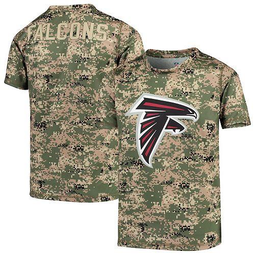 Youth Camo Atlanta Falcons Alpha Sublimated Dri-Tek T-Shirt
