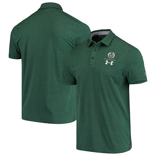 Colorado State Rams Under Armour Logo Performance Tri-Blend Polo Green