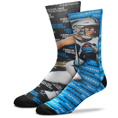 Youth For Bare Feet Christian McCaffrey Carolina Panthers Say My Name Crew Socks