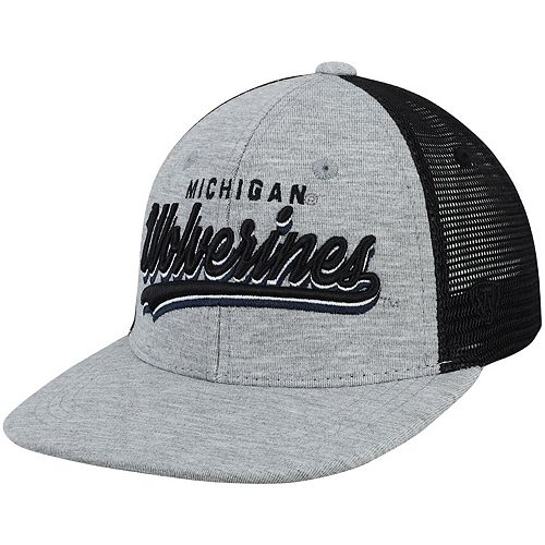 Youth Top of the World Gray Michigan Wolverines Cutter Adjustable Hat
