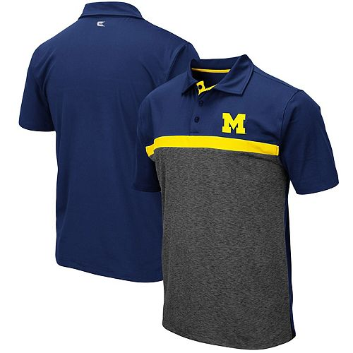 Men's Colosseum Navy Michigan Wolverines Capital City Polo
