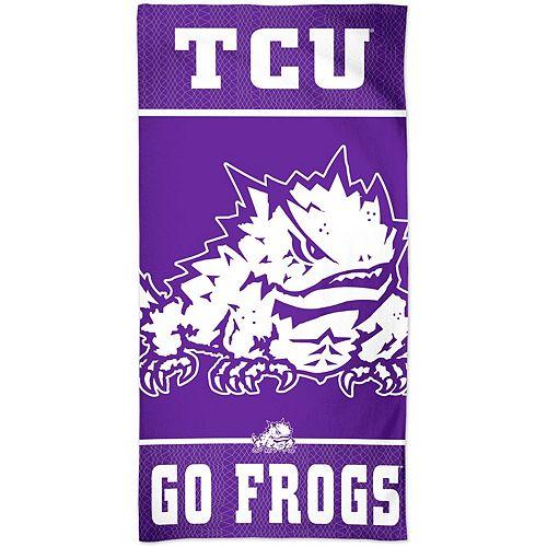 "WinCraft TCU Horned Frogs 30"" x 60"" Team Logo Spectra Beach Towel"