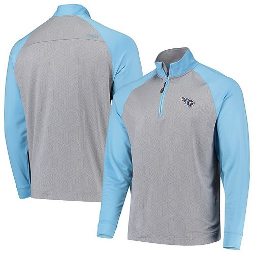Men's CBUK by Cutter & Buck Gray/Light Blue Tennessee Titans All-Star Half-Zip Pullover Jacket
