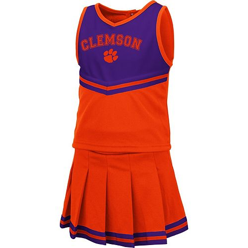 Girls Toddler Colosseum Orange Clemson Tigers Pinky Cheer Dress