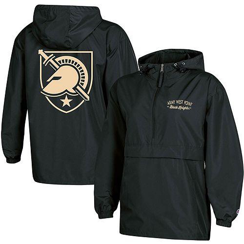 Women's Champion Black Army Black Knights Packable Half-Zip Light Rain Jacket
