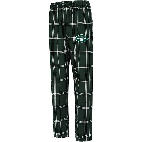 Men's Concepts Sport Green New York Jets Big & Tall Hillstone Flannel Pants