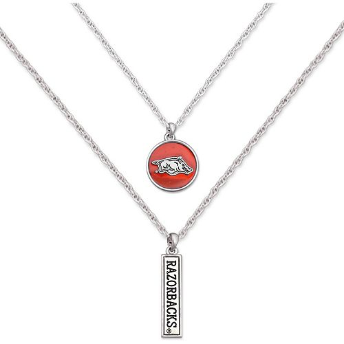 Arkansas Razorbacks Women's Campus Chic Double Down Necklace