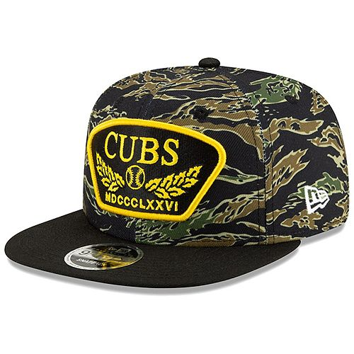 Men's New Era Camo Chicago Cubs League Vet 9FIFTY Snapback Adjustable Hat