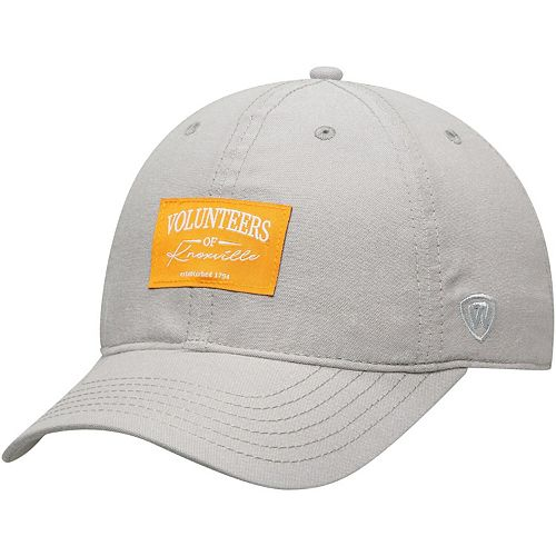 Men's Top of the World Gray Tennessee Volunteers Chambray Ante Adjustable Hat