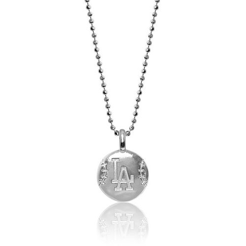 Women's Alex Woo Los Angeles Dodgers Sterling Silver Disc Necklace