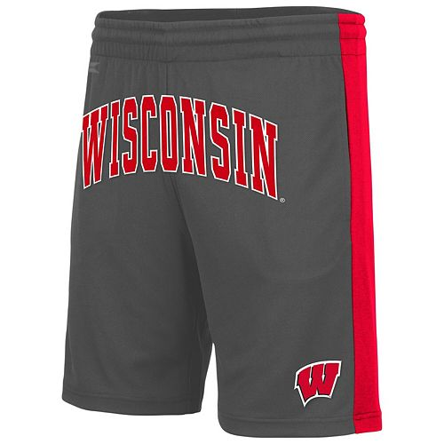Men's Colosseum Charcoal Wisconsin Badgers Motion Shorts