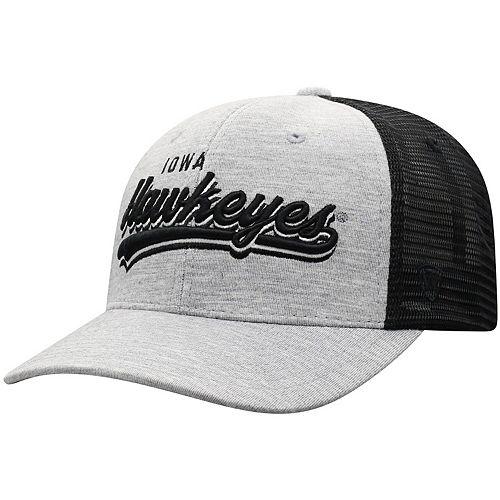 Men's Top of the World Gray Iowa Hawkeyes Cutter Trucker Adjustable Hat