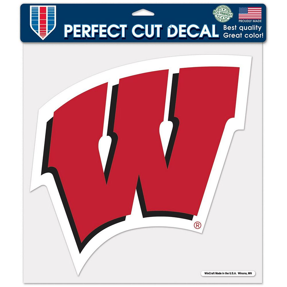 """WinCraft Wisconsin Badgers 12"""" x 12"""" Perfect Cut Decal"""