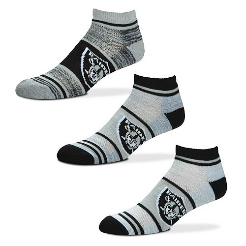 For Bare Feet Oakland Raiders Triplex Heathered 3-Pack Sock Set