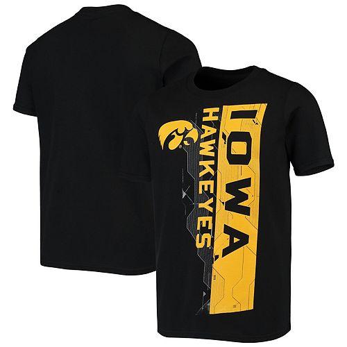 Youth Black Iowa Hawkeyes Sidebar T-Shirt