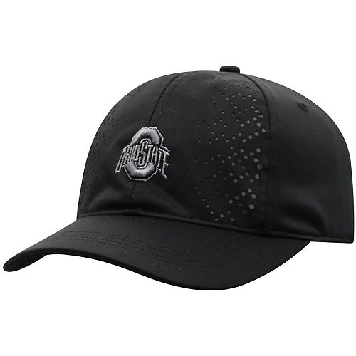 Women's Top of the World Black Ohio State Buckeyes Focal 1Fit Flex Hat