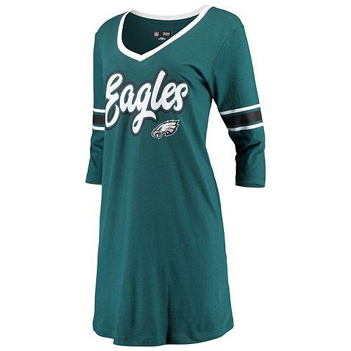 Women's New Era Midnight Green Philadelphia Eagles Athletic V-Neck Dress