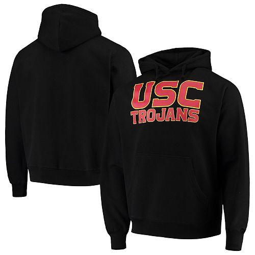 Men's Black USC Trojans Team Campus Pullover Hoodie