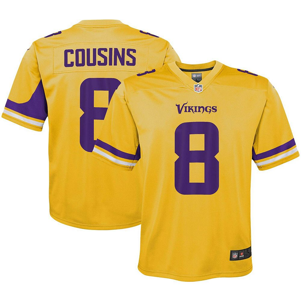 Youth Nike Kirk Cousins Gold Minnesota Vikings Inverted Game Jersey