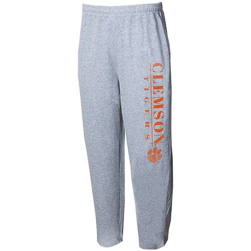 Men's Concepts Sport Gray Clemson Tigers Tri-Blend Mainstream Terry Pants