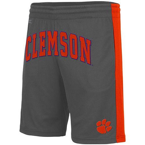 Men's Colosseum Charcoal Clemson Tigers Motion Shorts