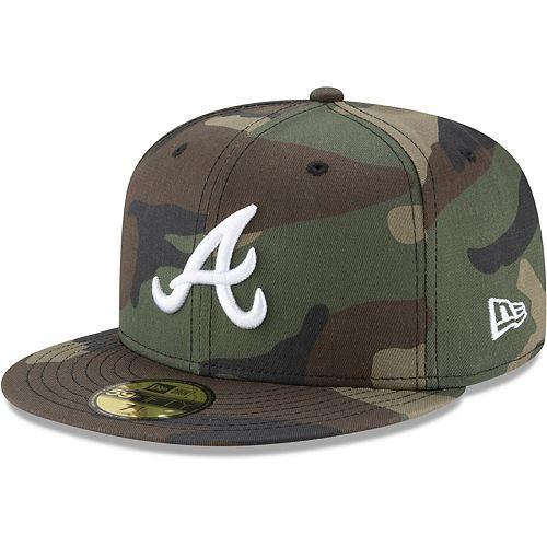 Men's New Era Camo Atlanta Braves Woodland Camo Basic 59FIFTY Fitted Hat