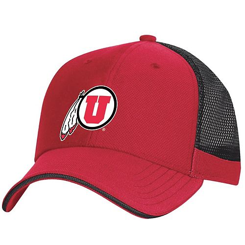 Men's Under Armour Red Utah Utes Sideline Blitzing Accent Performance Flex Hat