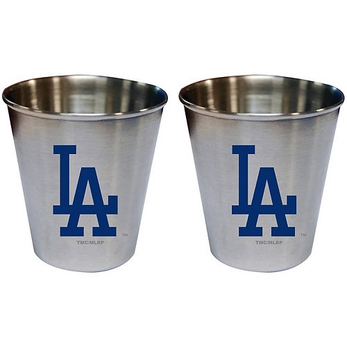 Los Angeles Dodgers 2oz. Stainless Steel Collector Cups Two-Pack Set