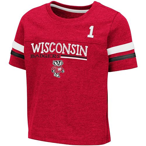Toddler Colosseum Red Wisconsin Badgers Boone T-Shirt