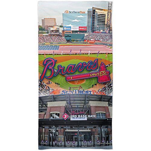 "WinCraft Atlanta Braves 30"" x 60"" Ballpark Spectra Beach Towel"