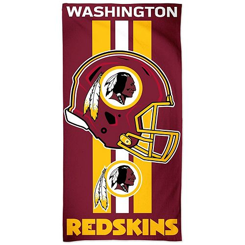 "WinCraft Washington Redskins 30"" x 60"" Striped Logo Beach Towel"