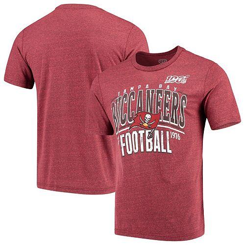 Men's Red Tampa Bay Buccaneers 100th Season Championship Tri-Blend T-Shirt